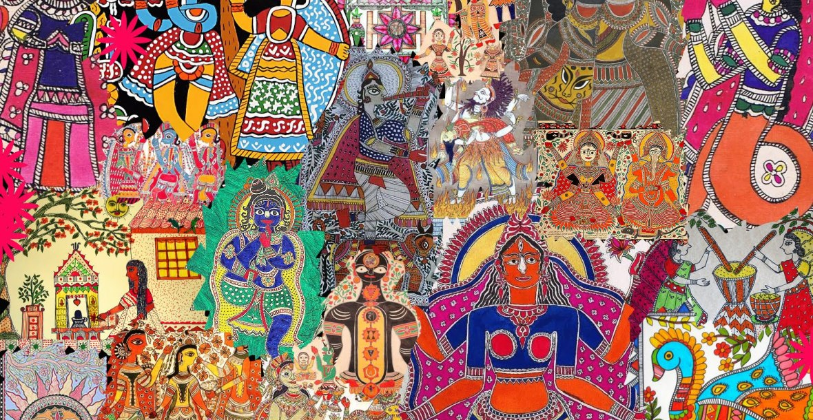 madhubani collage by Prakansh Rathore